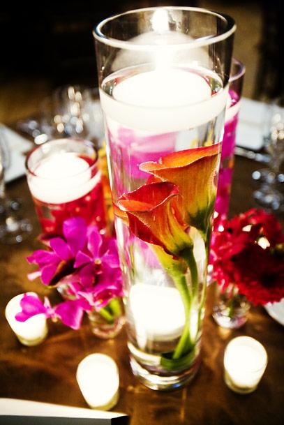 Flower centerpieces party favors ideas