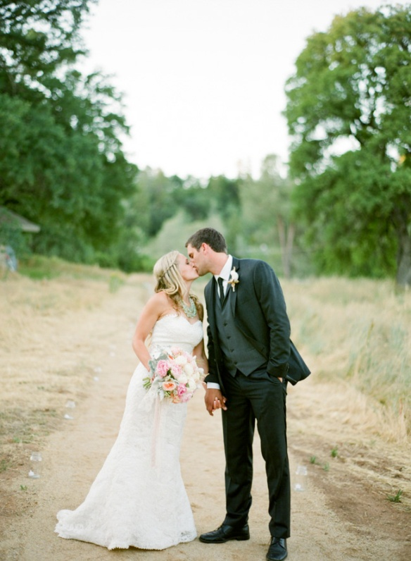 blush romantic rustic wedding