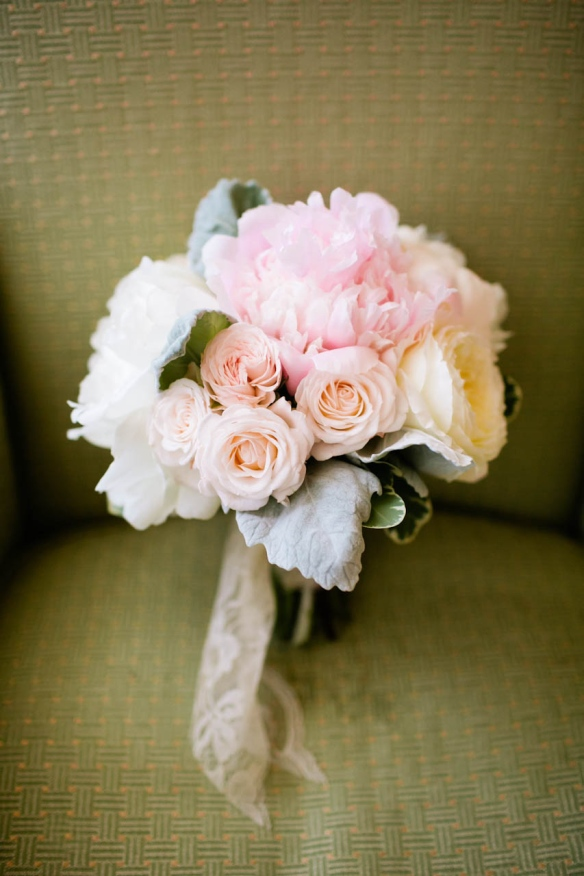 Blush wedding flowers darlington house